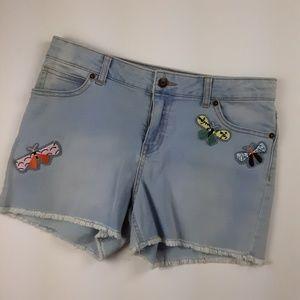 Cat & Jack Stretch Denim Shorts Embellished XXL 18